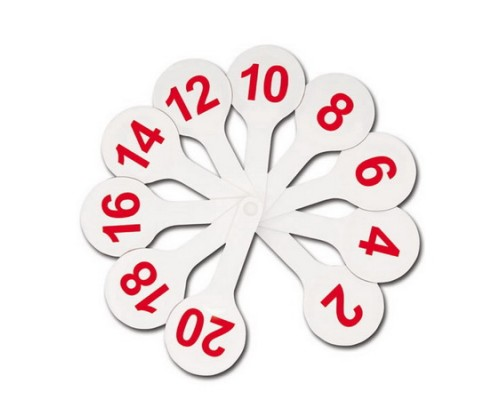 Веер-касса цифр от 1 до 20