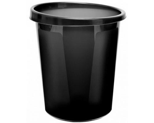 Корзина для бумаг 9 литров цельная черная