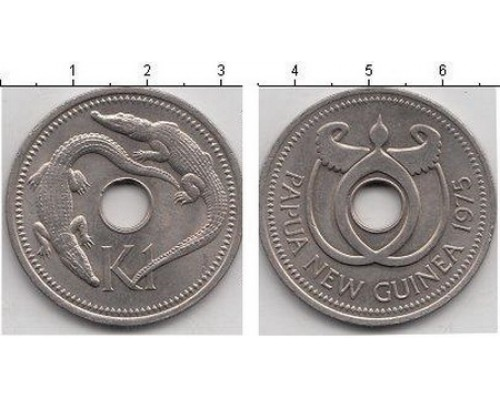 БЕЗ СКИДКИ Монета 1 кина Новая Гвинея (P)
