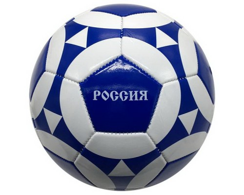 Мяч футбольный 280-300г, №5 глянц., 1 слой, Россия Т88633