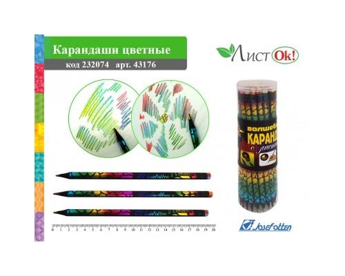 Карандаш 4-х цветный с ластиком Профи-Арт (цена за 1 карандаш)