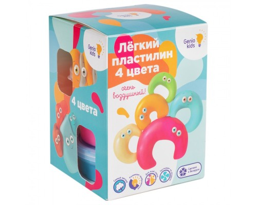 """Набор для детской лепки """"Лёгкий пластилин 4 цвета"""""""