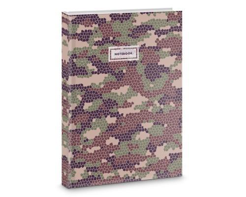 Книга для записей А4 100 листов Хаки