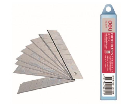 Лезвия для канцелярских ножей 18мм Deli E2011