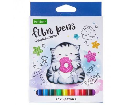 """Фломастеры 12 цветов """"ECO"""" Приключения кота Пирожка- в картонной коробке"""